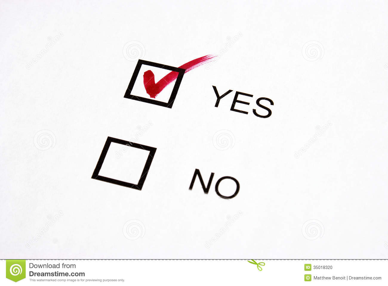 Vote Yes Stock Photo Image Of Rating Questionnaire