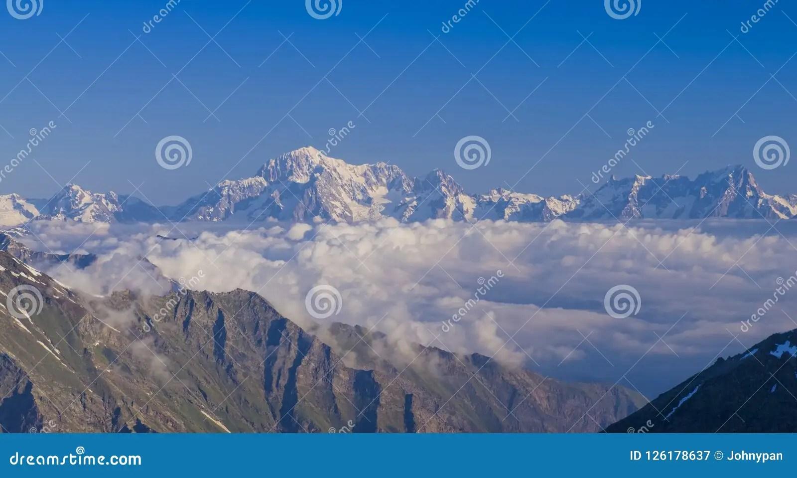 mont blanc de la vallee d aoste