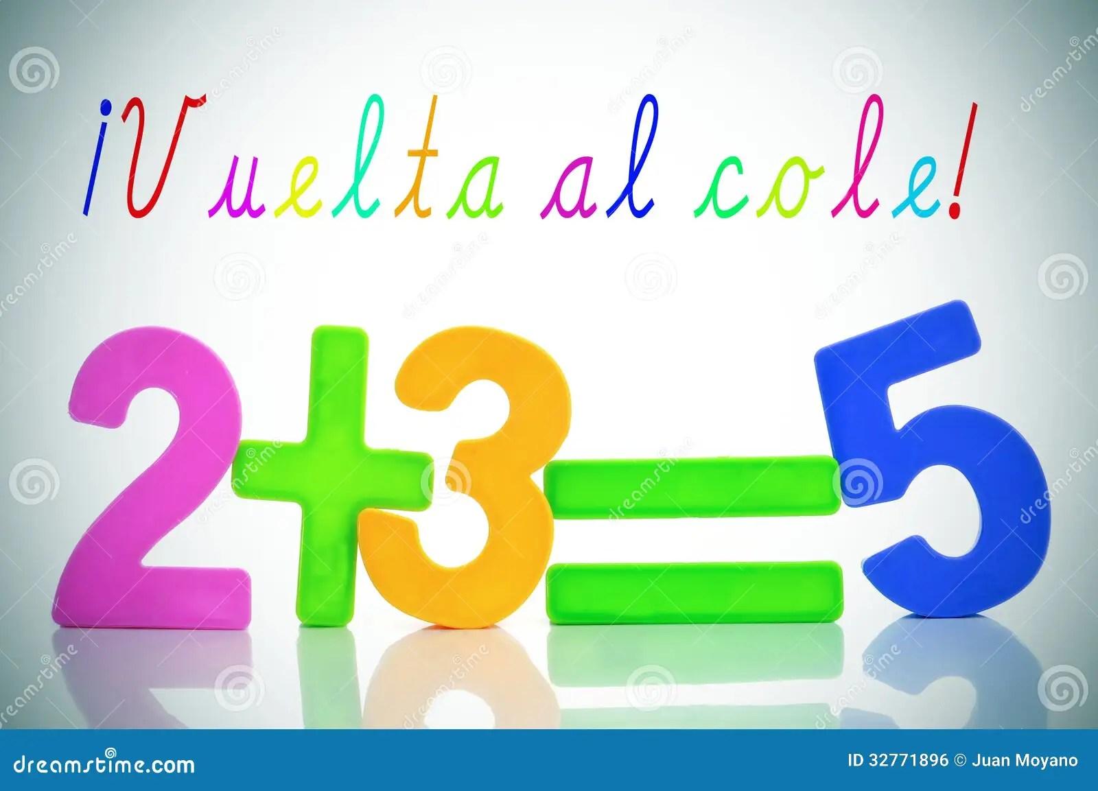 Vuelta Al Cole Back To School In Spanish Stock Photo