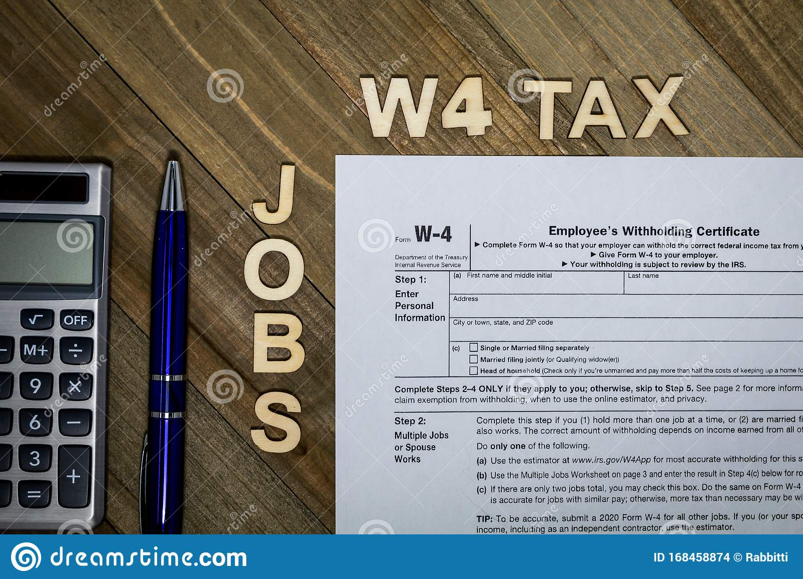 W4 Tax Form Employee Withholding Certificate Concept To