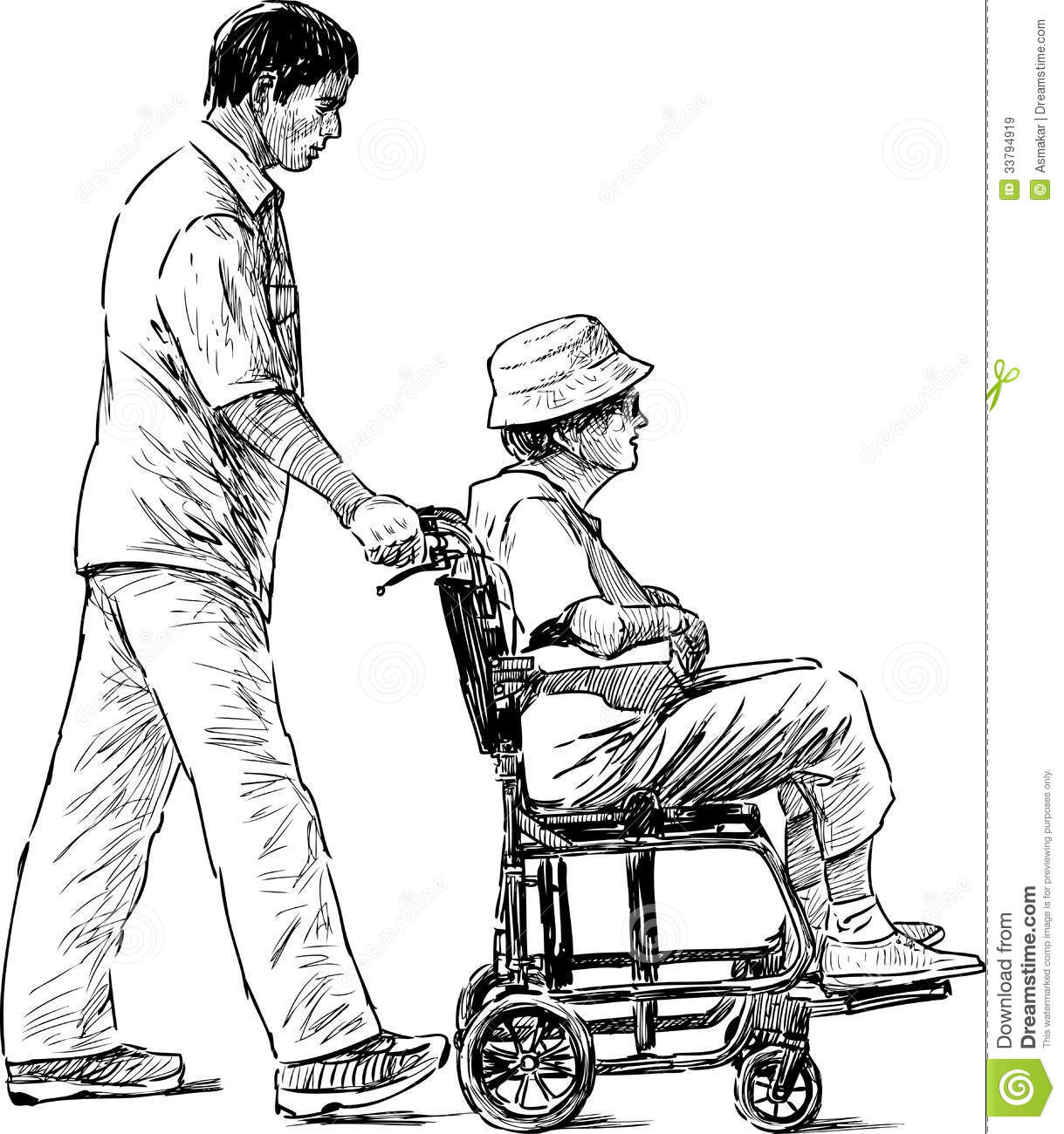 On a walk stock image. Image of drawn, help, white