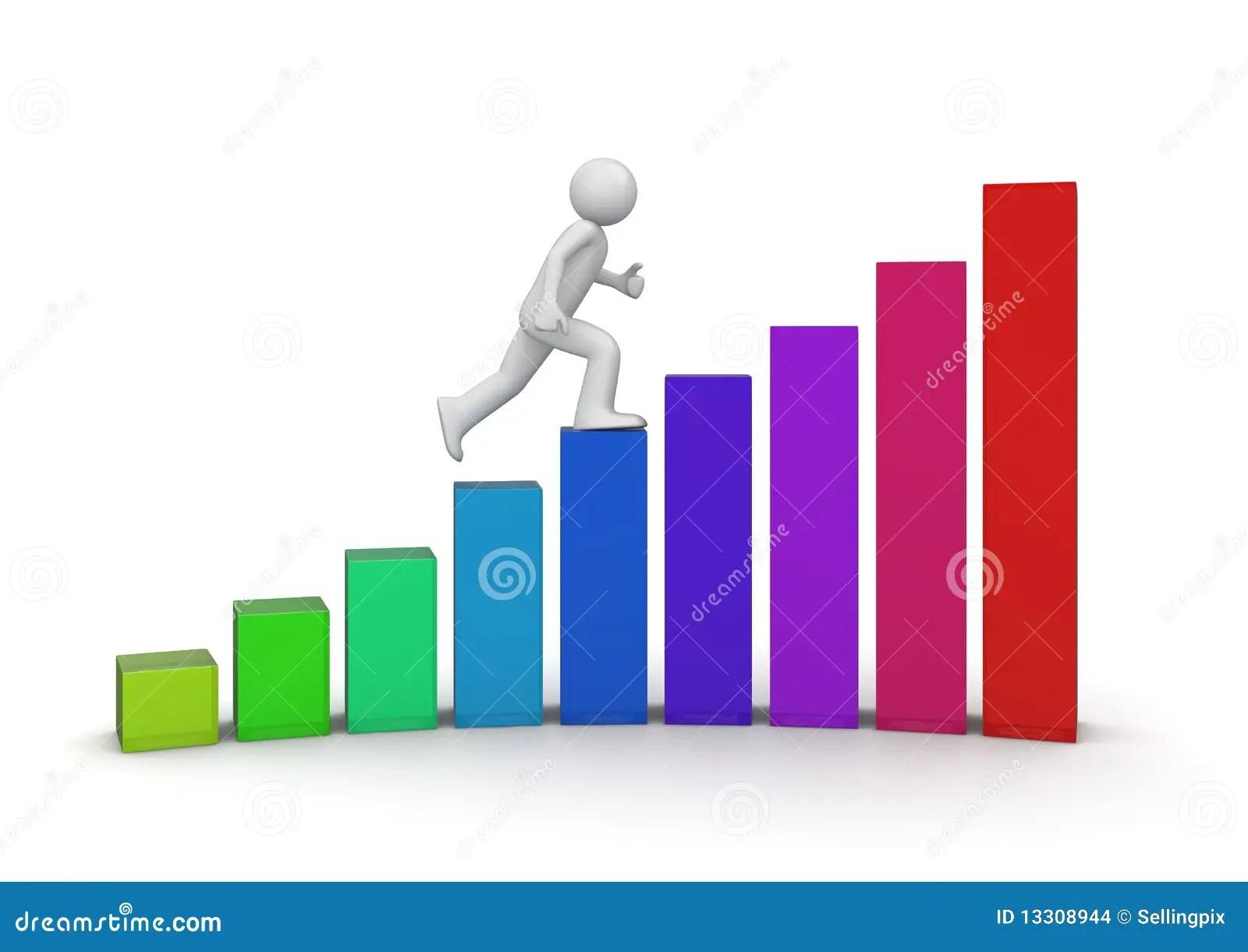 Walking Ladder Of Success Stock Illustration Illustration