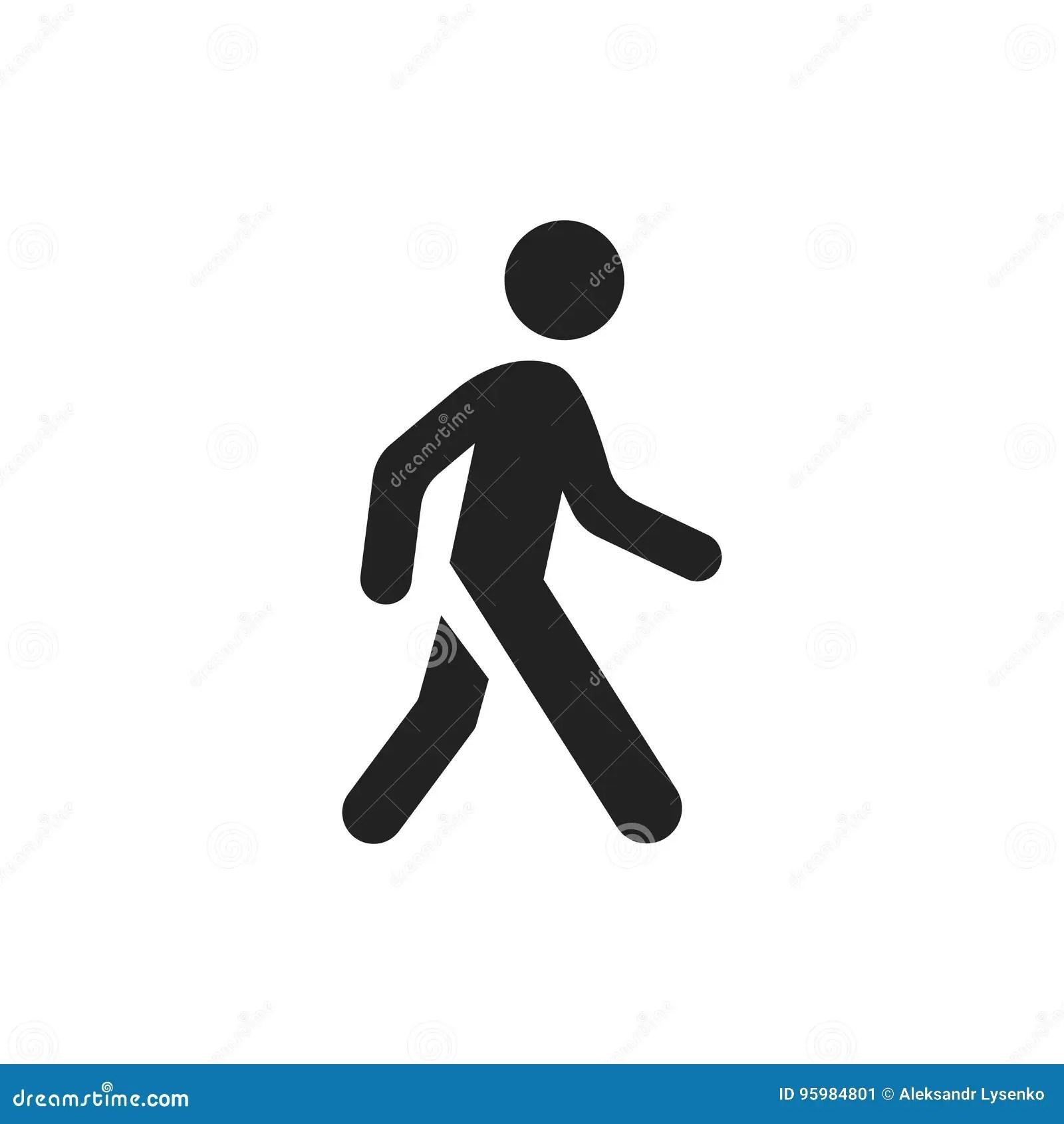 Walking Man Vector Icon People Walk Sign Illustration