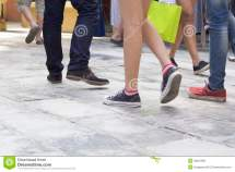 Walking Shoes On Pavement