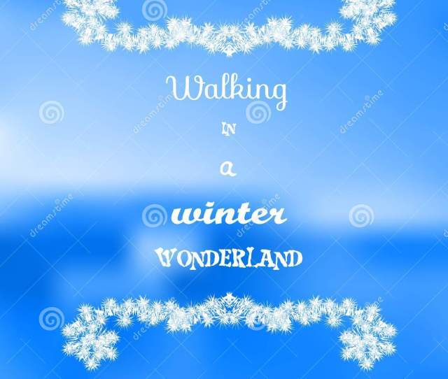 Walking In A Winter Wonderland Inspirational Quote On Colorful Background Decorative Card