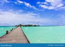 Walkway Over Tropical Sea Stock - 16588612