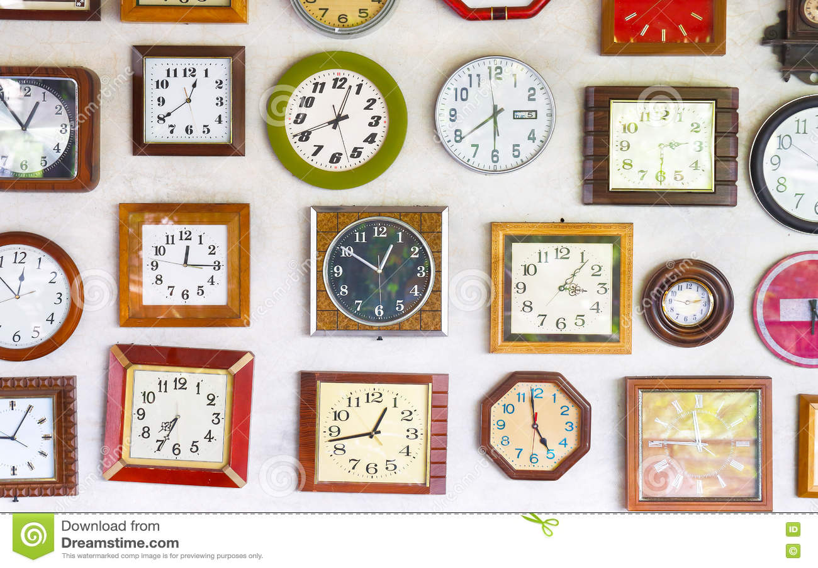 wall clocks stock image