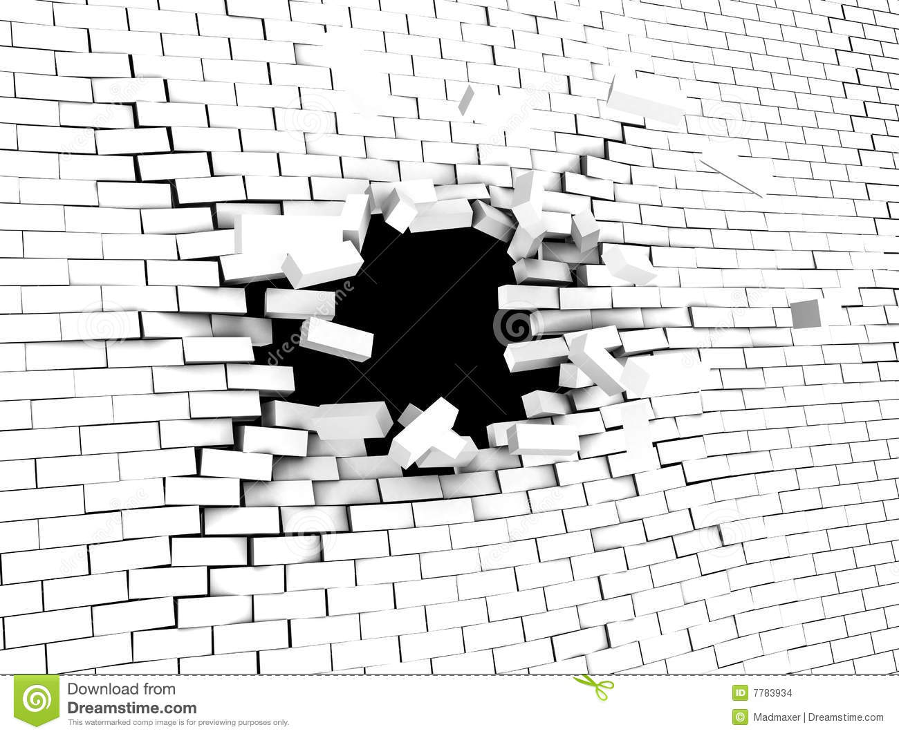 Wall Crash Stock Images  Image 7783934