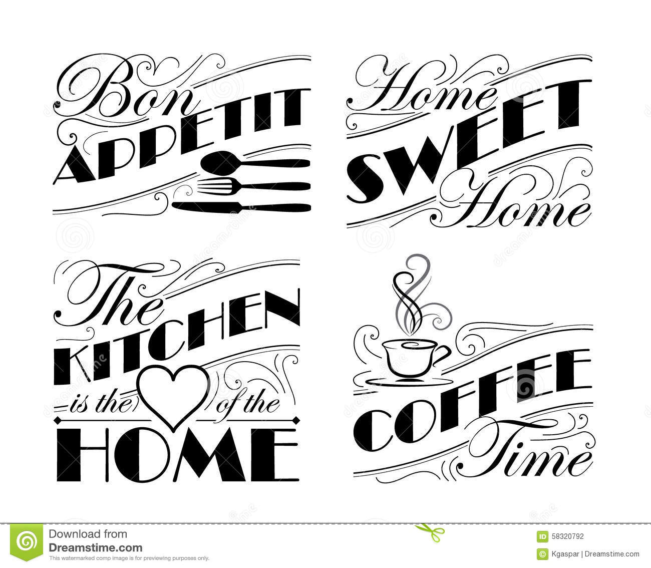 Wall Decal Set Stock Vector