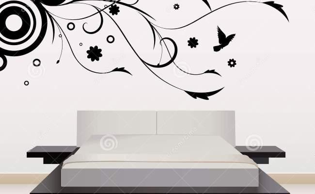 Wall Decoration With Floral Design Stock Vector