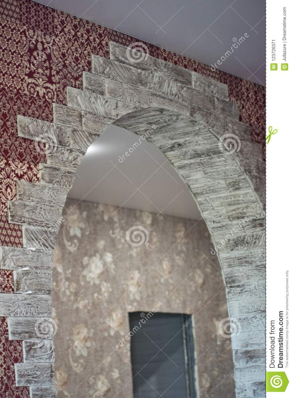Wall Design Finishing Works In The House Decorative Stone