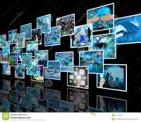 Wall high-tech stock photo. Image of tech, cable, modern ...