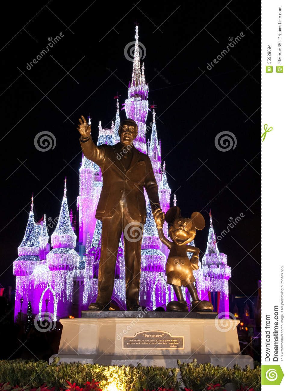 Walt Disney World Partners Statue Editorial Stock Image