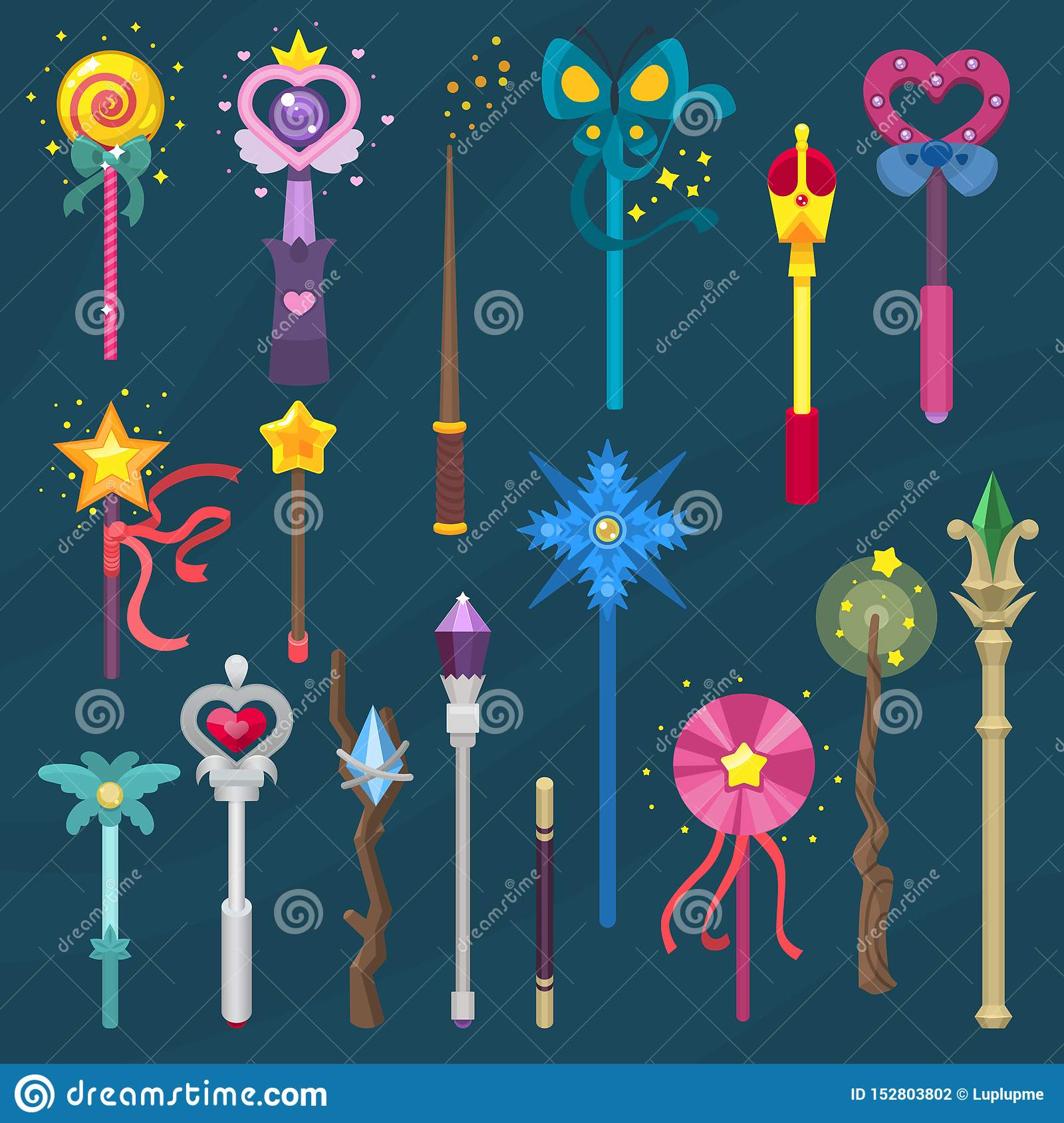 wand vector magic stick