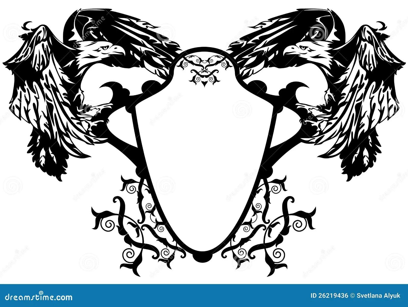 Wappen Adler Lizenzfreies Stockbild