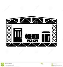 Warehouse Storage Equipment Icon Simple Style Stock