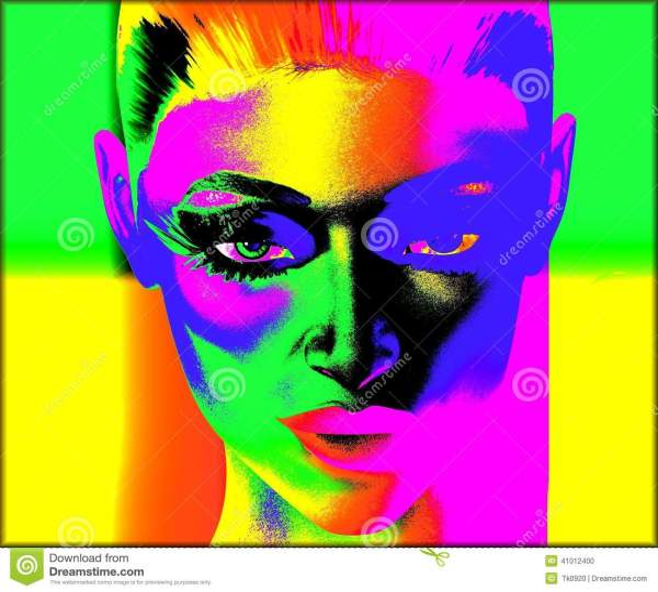 Pop Art Face Painting Styles