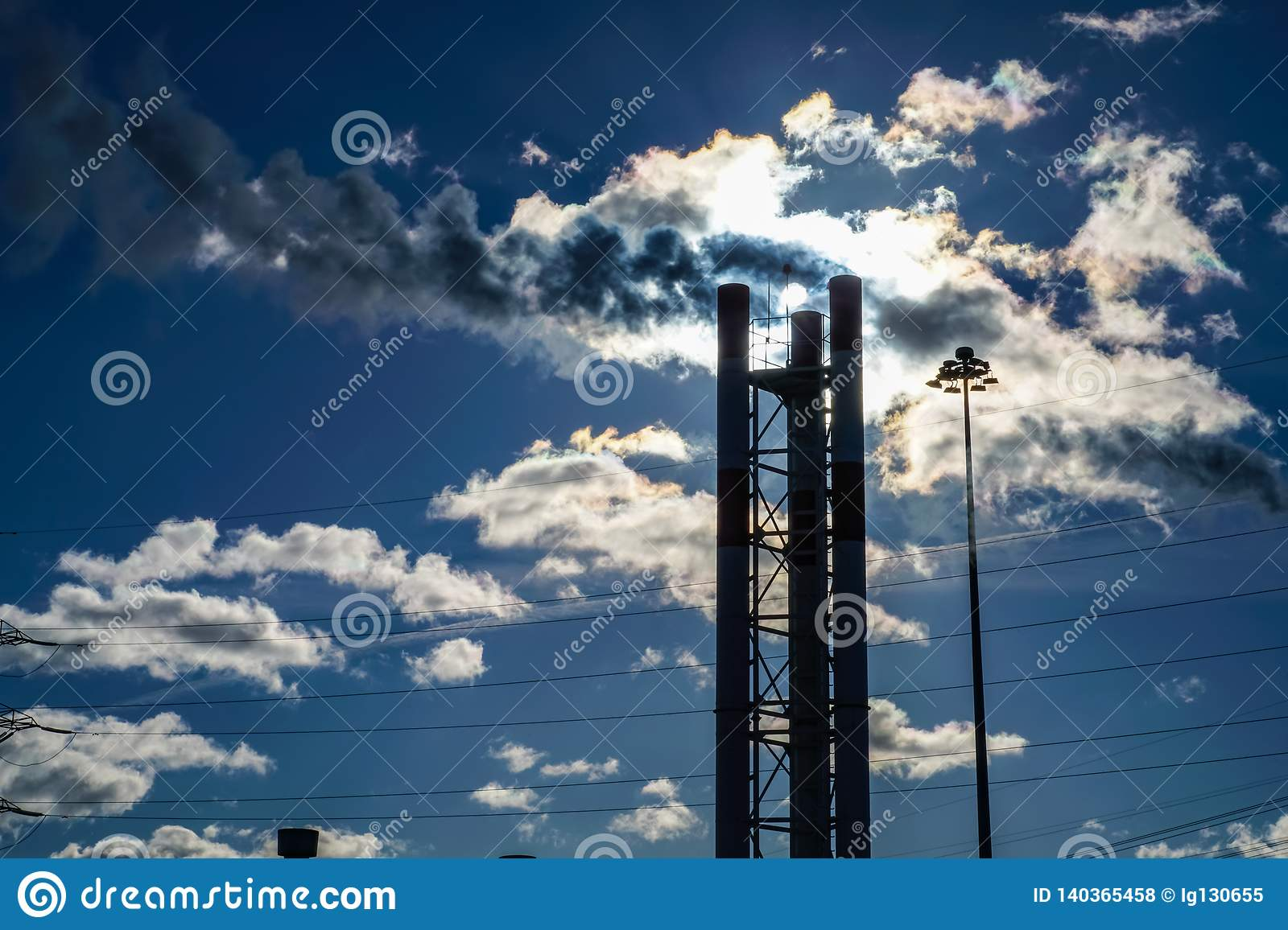 The Warm Air Coming Out Of The Pipes Mixes With The Clouds