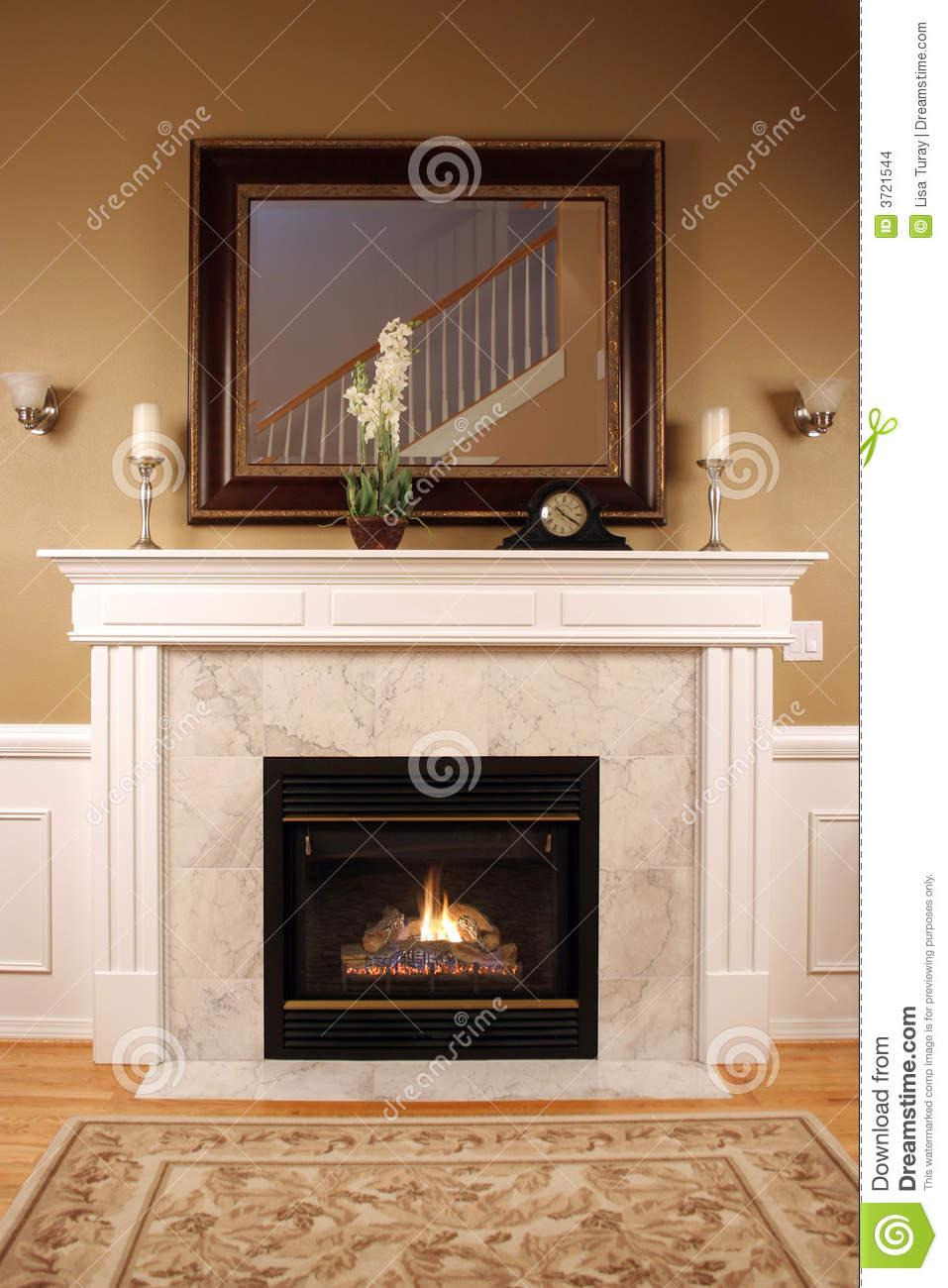 Warm And Cozy Fireplace Stock Images  Image 3721544