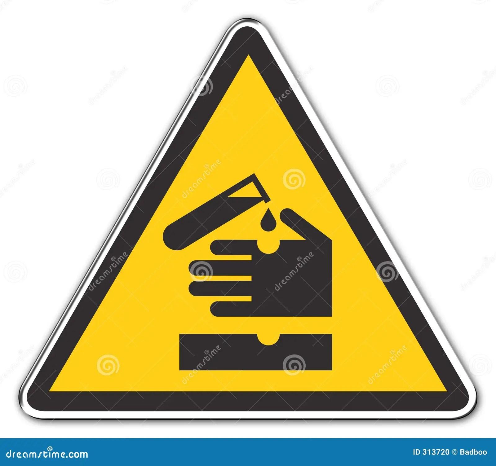 Warning Acid Stock Illustration Illustration Of Material