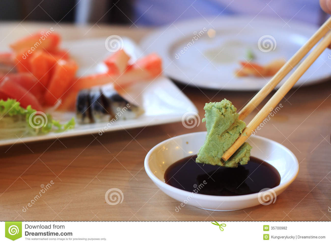 Wasabi And Soy Sauce Stock Photography  Image 35700982