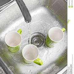 Chrome Kitchen Faucet Islands Home Depot Washing Cups In The Sink Royalty Free Stock Photos ...