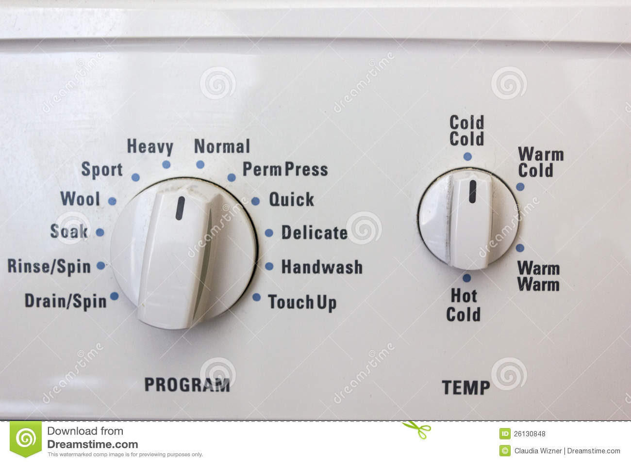 Washing Machine Dials Stock Photo Image Of Wash Dial