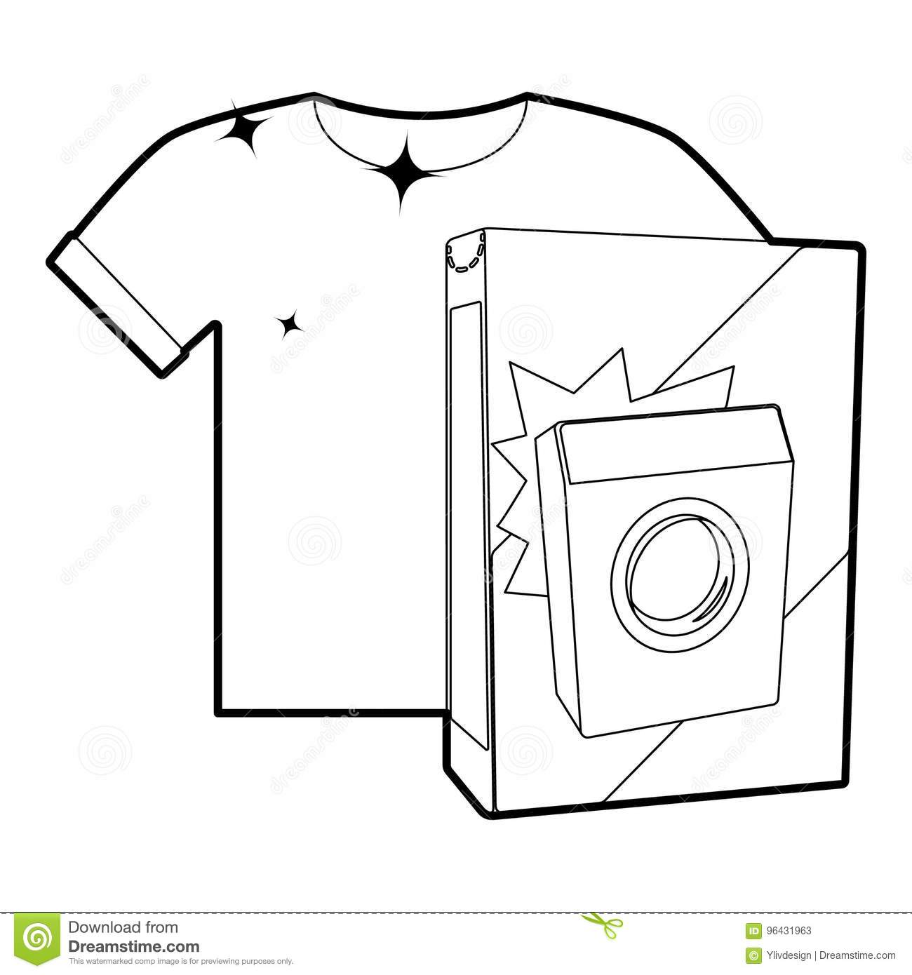 Washing Powder For Colored Things Icon Outline Stock