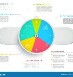 clock corporate workflow circle graph elements company flowchart diagram presentation slide template vector info graphic design  [ 1300 x 1065 Pixel ]