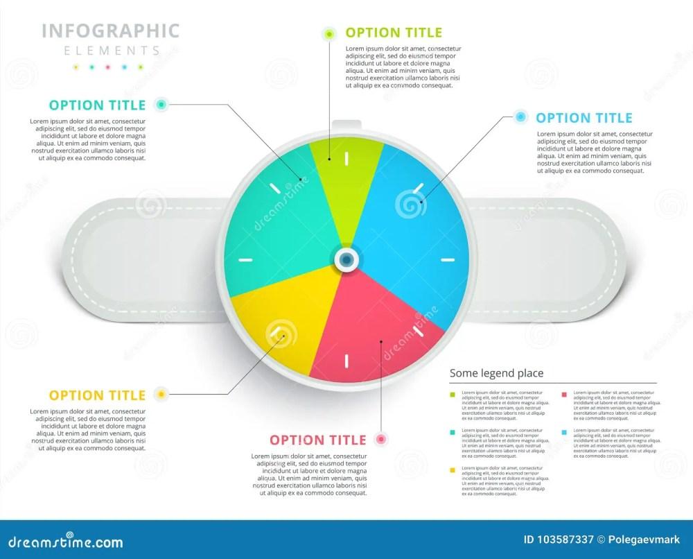 medium resolution of clock corporate workflow circle graph elements company flowchart diagram presentation slide template vector info graphic design