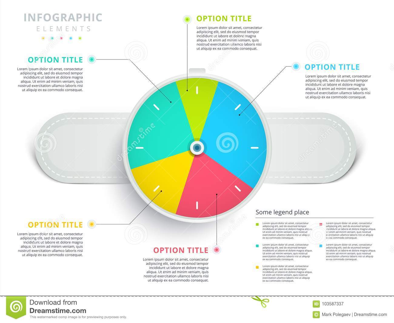 hight resolution of clock corporate workflow circle graph elements company flowchart diagram presentation slide template vector info graphic design