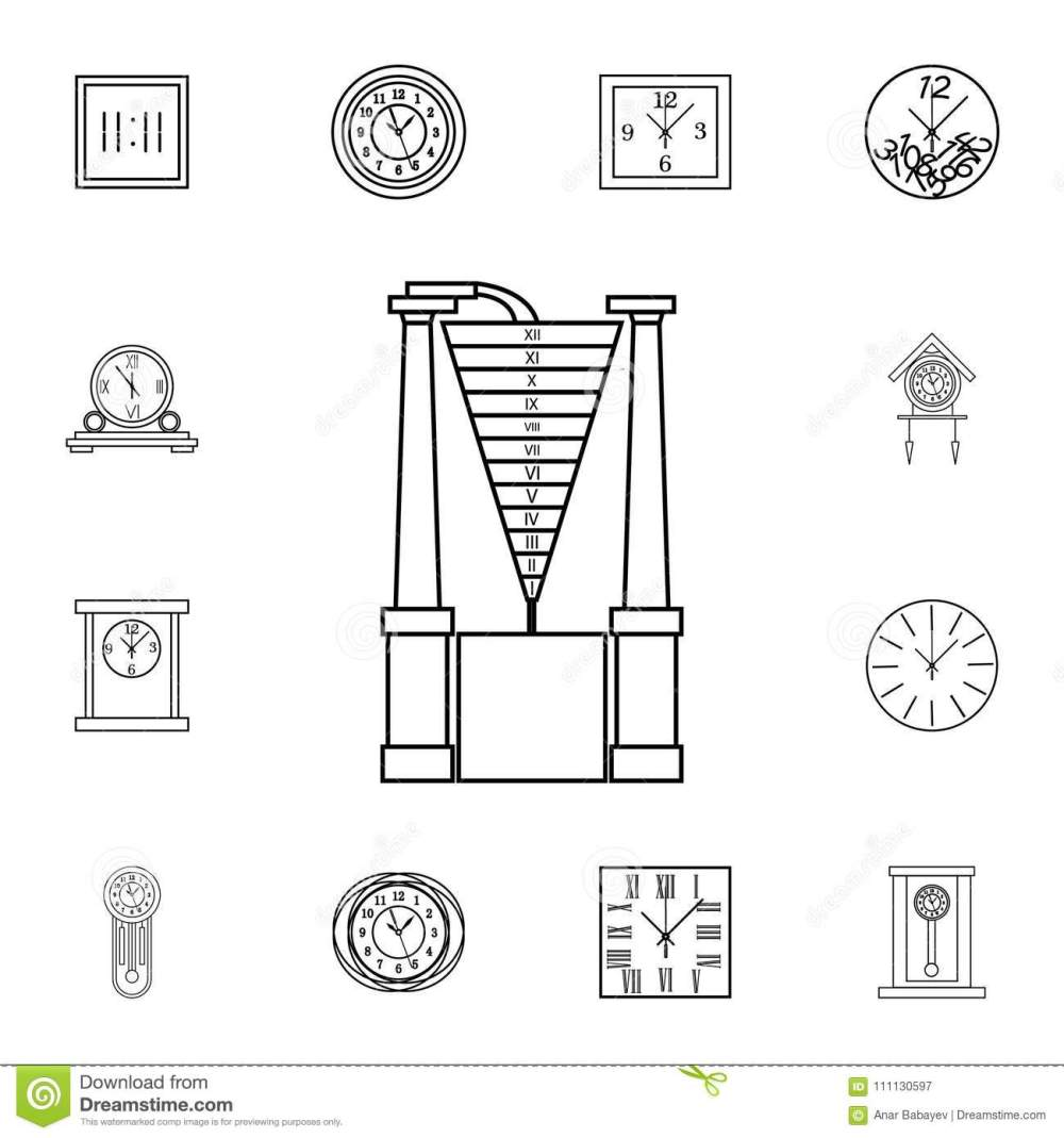 medium resolution of water clock line icon clock icon premium quality graphic design signs symbols collection simple icon for websites web design mobile app on white