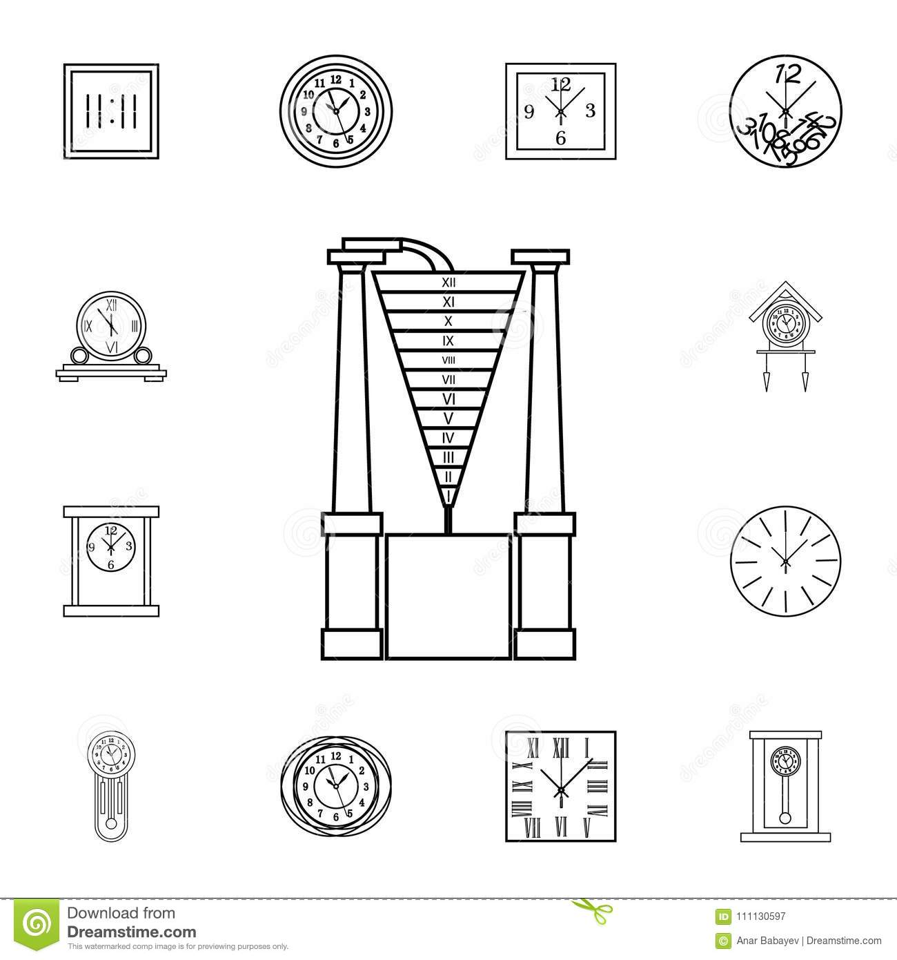 hight resolution of water clock line icon clock icon premium quality graphic design signs symbols collection simple icon for websites web design mobile app on white