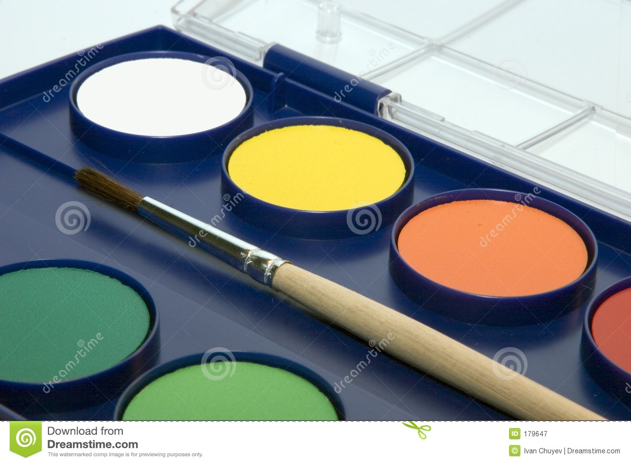 water colour box stock
