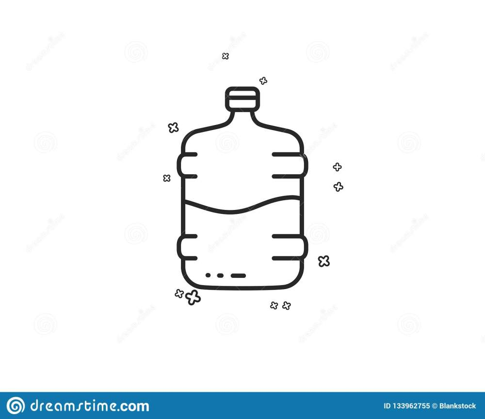 medium resolution of water cooler bottle line icon still aqua drink sign liquid symbol geometric shapes random cross elements linear cooler bottle icon design vector