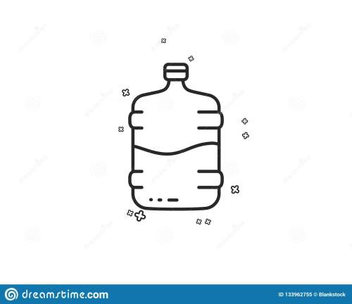 small resolution of water cooler bottle line icon still aqua drink sign liquid symbol geometric shapes random cross elements linear cooler bottle icon design vector
