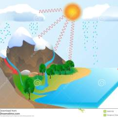 Explain Water Cycle With Diagram 1998 Gmc Sonoma Radio Wiring Stock Illustration Of Natural