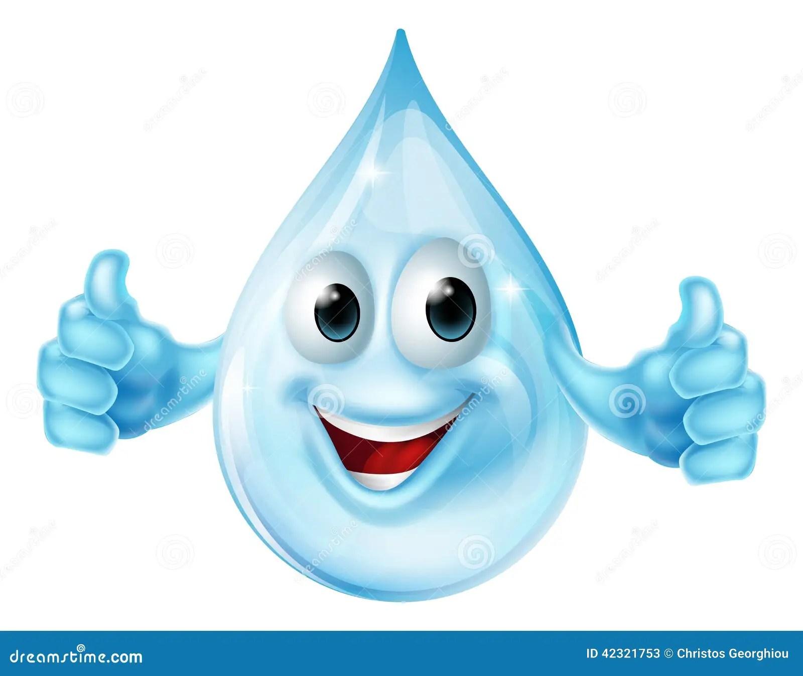 hight resolution of water drop mascot