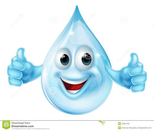 small resolution of water drop mascot