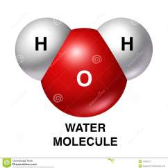 Water Molecule Diagram 1 Gang 2 Way Switch Wiring H2o Isolated Oxygen Hydrogen Red Wh Stock