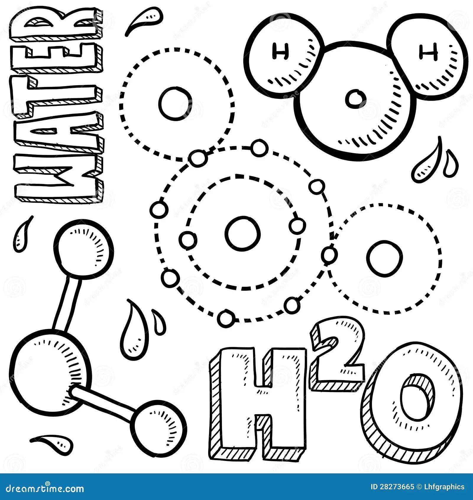 diagram of a molecule of water