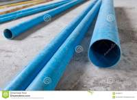 Water Pipes Pvc Plumbing In Construction Site Stock Photo ...