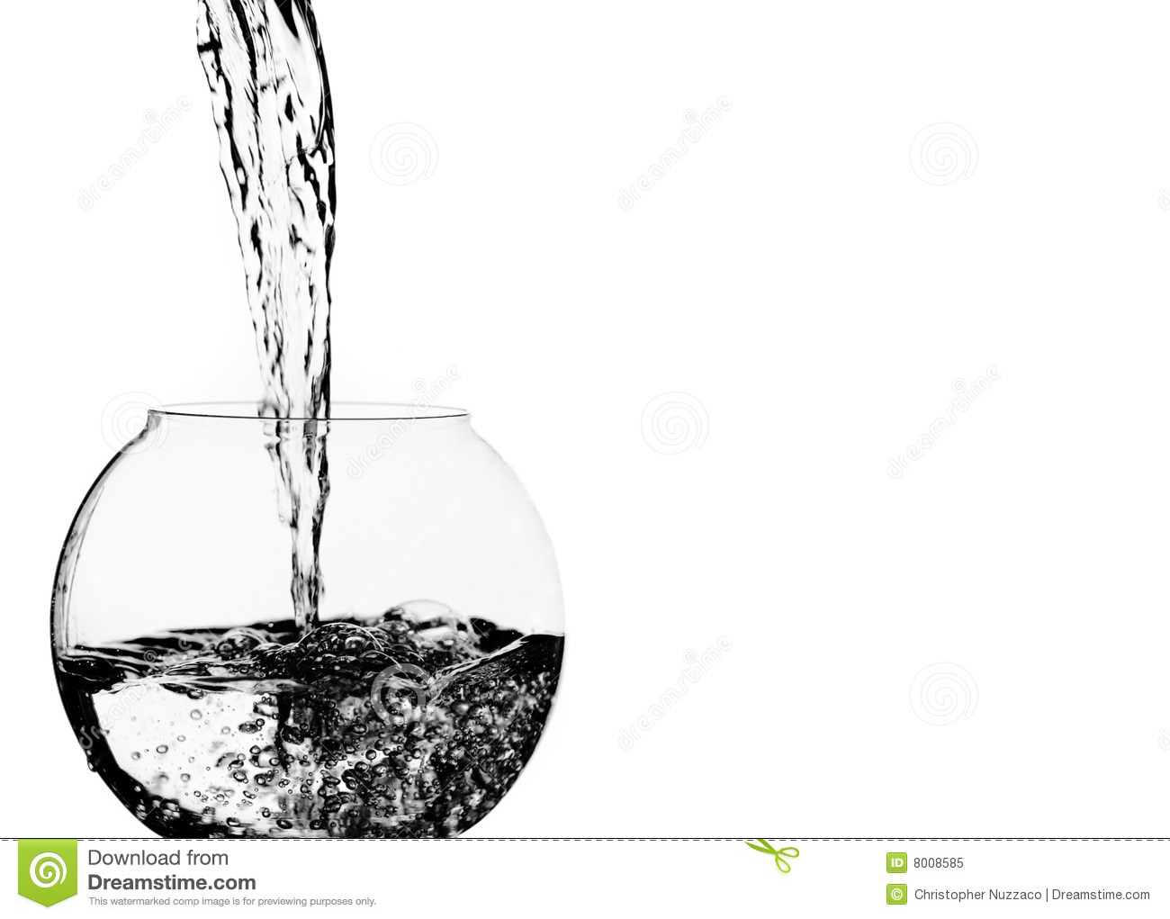 Water Pouring Into Bowl Royalty Free Stock Photo