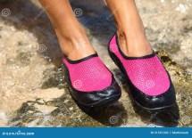 Women Wearing Water Shoes