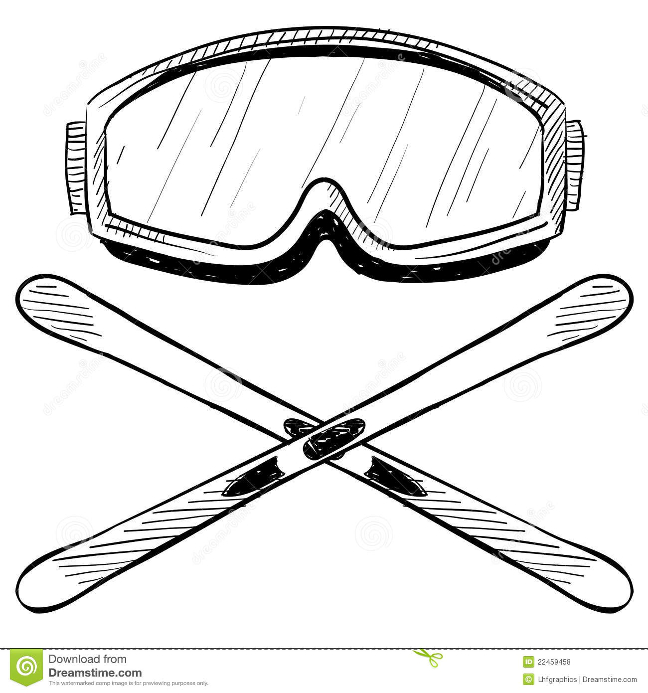Water skiing gear drawing stock vector. Illustration of