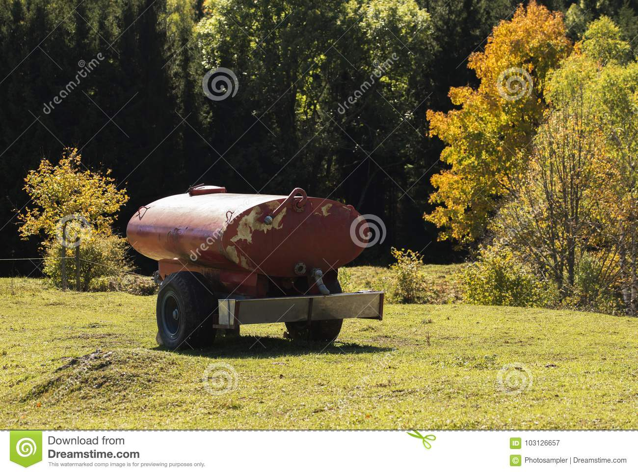 Water Supply For Thirsty Farm Animals Stock Image