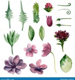 watercolor purple flowers [ 1325 x 1300 Pixel ]