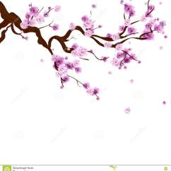 Diagram The Parts Of Cherry Blossom Tree 2 Stage Thermostat Wiring Watercolor Sakura Japanese Illustration Card