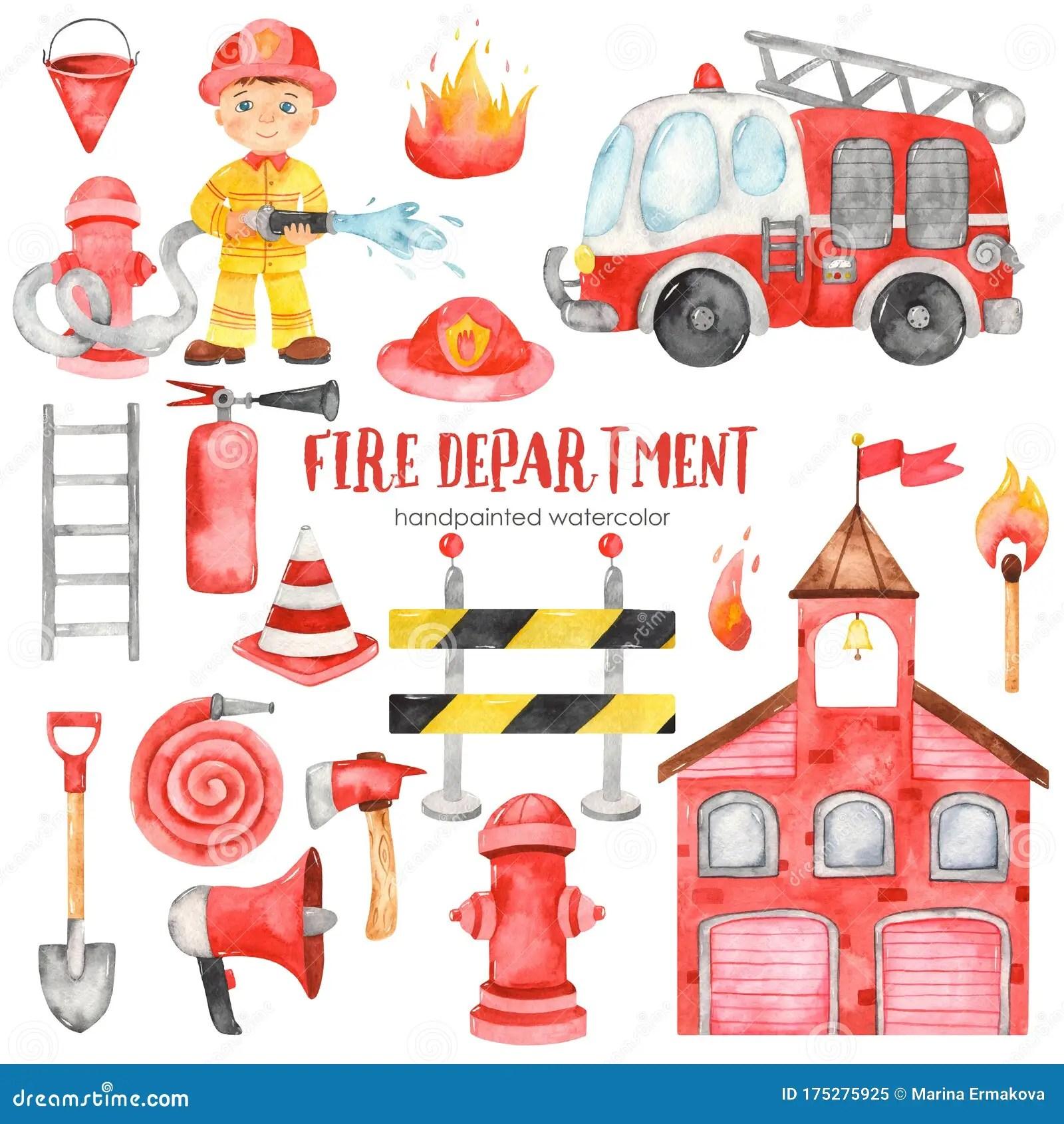 F Is For Fireman Cartoon Vector