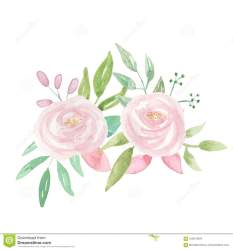 flower pink summer watercolour garland watercolor clip bouquet winter painted hand frame quality foliage illustration